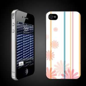 Fun iPhone Hard Case Designs   Flowers and Stripes Pastels CLEAR