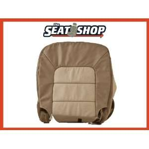 06 Ford Expedition Eddie Bauer 2Tone Tan Perf Leather Cover RH bottom