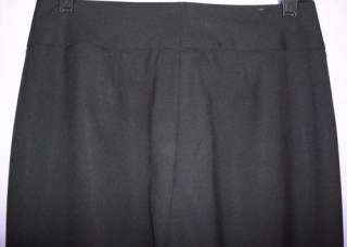 Entier Black Wool Stretch Boot Cut Career Dress Pants 2