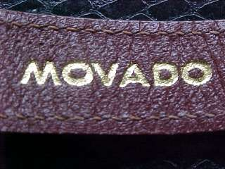 SOLID GOLD 14K Movado w/Stunning 14k Engine Turned Dial Classic