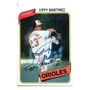 Tippy Martinez Autographed 1980 Topps Card:  Sports