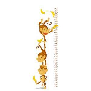 Monkey Canvas Growth Chart Baby