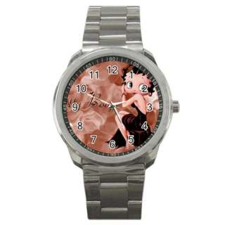 Betty Boop Sexy Cartoon Sport Mens Wrist Watch Gift