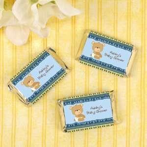 Baby Boy Teddy Bear   20 Mini Candy Bar Wrapper Sticker