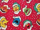 SESAME STREET FABRIC CHRISTMAS BIG BIRD ELMO BERT COOKIE MONSTER