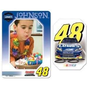 NASCAR Jimmie Johnson Magnet   Die Cut Vertical Sports