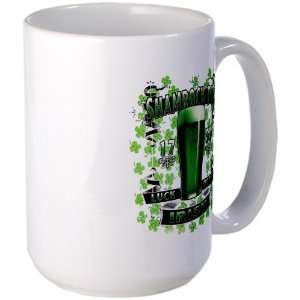 Large Mug Coffee Drink Cup Shamrock Pub Luck of the Irish