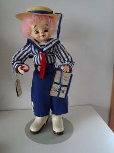 Brinns Calendar Clown Doll September School Days 14 Tall