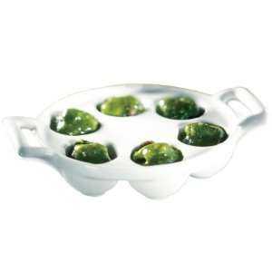 Revol Belle? Cuisine Porcelaine Escargot Plate, 6 Hollows, 5.5x5x1.5