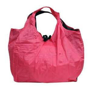 Portable Reusable Roll Up Eco Friendly Small Grocery Bag (Pink