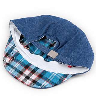 Fashion Cool Baby Kids Boys Girls Cute Classic Check turnup Hat Cap