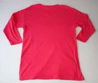 Victorias Secret Pink Long Sleeve V Neck Night Shirt S