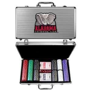 Alabama Crimson Tide 300 pc. Poker Game Set   NCAA College