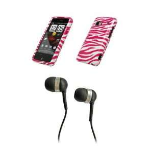 HTC Droid Incredible Premium Hot Pink Zebra Skin Design