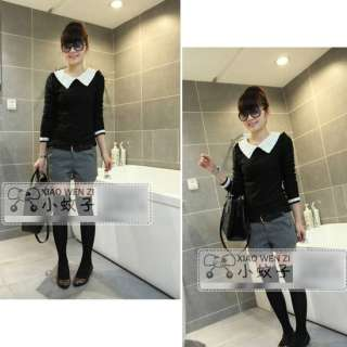 Womens Ladies Long Sleeve Cotton Casual Tops Blouse T Shirt S Size