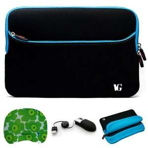 Black with Blue Edge Laptop Sleeve Water Resistant Case with Zippered