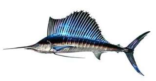 METAL WALL ART Tropical Ocean Fishing Decor Beach Fish Decorations