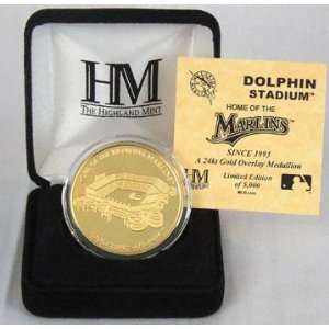 Florida Marlins   Dolphin Stadium   24KT Gold Commemorative Coin