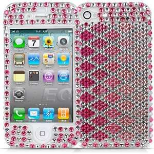Ecell   PINK DIAMOND CRYSTAL 3D BLING CASE FOR APPLE