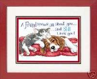 Dimensions Creative Accents True Friends cross stitch