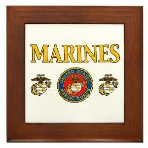 Framed Tile Marines United States Marine Corps Seal