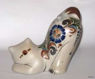 Mexican Pottery Crouching Cat Kitten Figurine Reyna Mexico