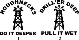 ROUGHNECK OILFIELD STICKERS DECALS TRUCK WINDOW NEW!