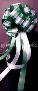 12 BIG OLIVINE GREEN PULL BOWS GIFT PEW DECORATIONS