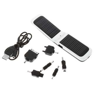 2600mAh Solar Power Battery Charger w/ Cell phone Adapter for iphone