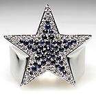 Dallas Cowboys Diamond Sapphire Players Ring Platinum Custom Heavy