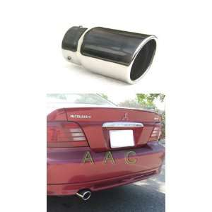steel exhaust tip w/ mirror polish finish   Mitsubishi Galant 99 01