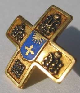 Imperial Russian military gilt badge, Emigre made