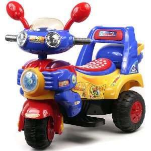 HL818 6 Blue/Yellow/Red Battery Operated Tricycle Toys