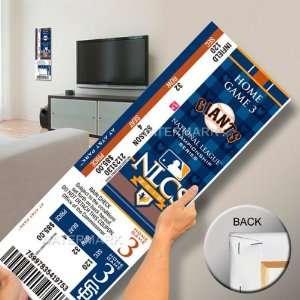 2010 NLCS Mega Ticket   San Francisco Giants Sports
