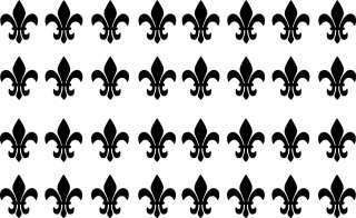 32 1 inch Fleur De Lis Vinyl Decal Wall Art Decor Stickers