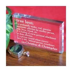 Valentines Day Personalized True Love Couples Keepsake