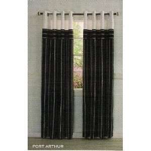 NAUTICA Grommeted window panel Port Arthur Black/White