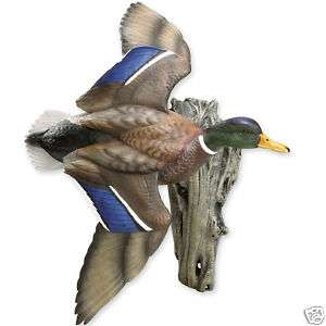 Mallard Wall Mount Flying Duck Hunting Sculpture Decoy