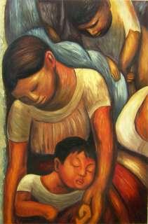 Diego Rivera La Noche de Los Pobres Oil Repro 24x36