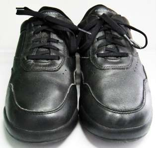 MENS Black Walking Casual Shoes 9.5 ROCKPORT Leather