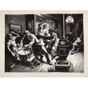 1939 Thomas Benton Frankie Johnny Black Americana Print