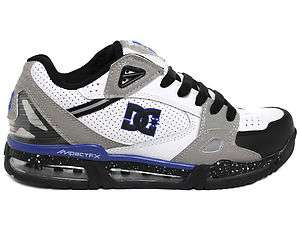 DC Versaflex White/Gray/Blue/Black Speckle Low Top Mens Skate Shoes