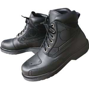 Rocket Orbit Womens Leather Touring Motorcycle Boots   Black / Size 9