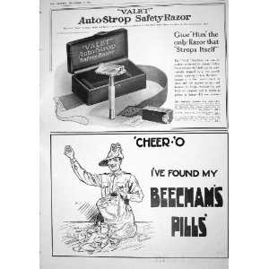 1916 Advertisement Auto Strop Razor Beechams Pills Hedges
