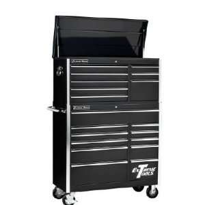 19 Drawer Professional Rolling Tool Cabinet Tool Chest Combo (Black)