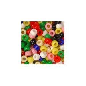 Plastic Mini Pony Beads 4x7mm, Opaque Mix 1/2lb: Arts
