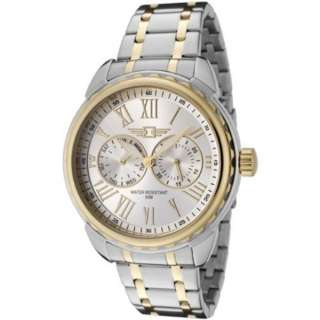 002 Two Tone Stainless Steel Silver Dial Day Watch 722631074891