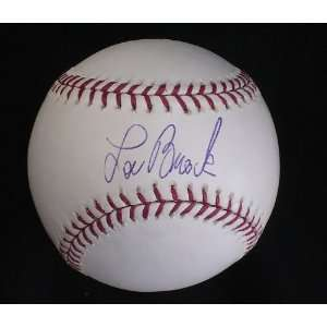 Lou Brock Autographed Baseball   HOF PSA DNA Sports