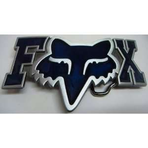 FOX RACING Logo Blue Letters Belt Buckle: Everything Else