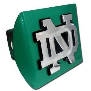 University of Notre Dame Fighting Irish Green with Chrome ND Emblem